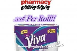 Hot Deal Viva Paper Towels Only .22¢ per Roll at CVS(5/28/17-6/3/17)