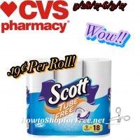 WOW! Scott Tube Free Toilet Paper $.19 at CVS(5/28/17-6/3/17)