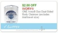 **NEW Printable Coupon** $2.00/1 Ivory Duo Dual-Sided Body Cleanser (excludes trial/travel size)
