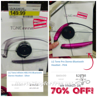 LG Tone Bluetooth Headsets 70% OFF at Target!