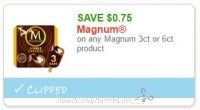 Save $0.75 on any Magnum 3ct or 6ct product