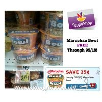 FREE Maruchan Bowl at Stop & Shop through 05/18 with NEW Printable Coupon!