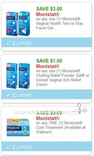 graphic relating to Monistat Printable Coupons known as Refreshing Printable Coupon codes** 3 Monistat Coupon codes Pre-Clipped for