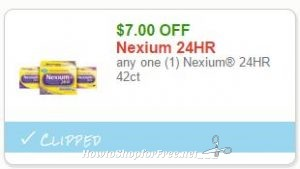 image about Nexium Printable Coupon named Clean Printable Coupon** $7.00/1 Nexium 24HR 42ct How toward