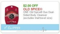 **NEW Printable Coupon** $2.00/1 Old Spice Duo Dual-Sided Body Cleanser