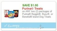 **NEW Printable Coupon** $1.00/2 Purina Beggin, Busy, or Beneful brand Dog Treats