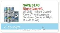 **NEW Printable Coupon** $1.00/1 Right Guard Xtreme™ Antiperspirant Deodorant