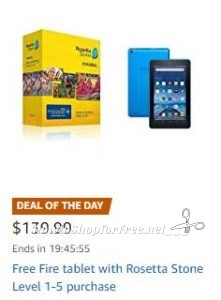 Amazon Deal of the Day** FREE Fire Tablet with Purchase of