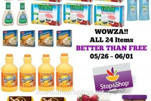 WOWZA!! 24 Items at Stop & Shop BETTER THAN FREE 05/26 ~ 06/01