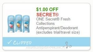 graphic about Secret Deodorant Printable Coupons named Fresh Printable Coupon** Top secret Clean Collections