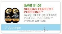 **NEW Printable Coupon** $1.00/3 SHEBA PERFECT PORTIONS™ Premium Cat Food