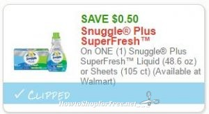 image relating to Snuggle Coupons Printable referred to as Contemporary Printable Coupon** $0.50 off just one Snuggle Furthermore SuperFresh