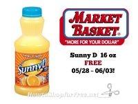 Sunny D FREE at Market Basket 05/28 ~ 06/03!
