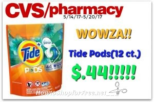 Wowza!!! Tide Pods .44¢ at CVS…RUNN!! (5/14/17-5/20/17)