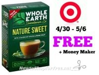FREE + Money Maker on Whole Earth Sweetener at Target! 4/30 – 5/6