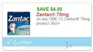 graphic regarding Zantac Printable Coupon named Contemporary Printable Coupon** $4.00/1 Zantac 75mg content 30ct+