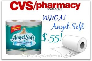 Wow!!! AngelSoft Toilet Paper Only $.55 at CVS!! (5/7/17-5/13/17)