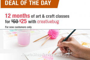 1-Year of Art & Craft Classes for $25.00! ~Sign Up Today Only!