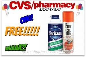 Ouu La La !! Free Barbasol/Pure Silk Shave Cream at CVS(5/7/17-5/13/17)