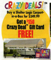 Carport-in-a-Box under $200 with Crazy Deal!