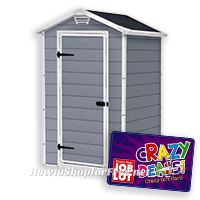 4′ x 3′ Manor Shed UNDER $200 at Job Lot