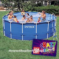 Intex 15′x48″ Metal Frame Pool 50% OFF from OSJL