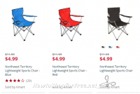 $4.99 Northwest Territory Lightweight Sports Chairs!!