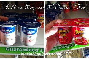 .50 Dannon Yogurt multi-packs at Dollar Tree!