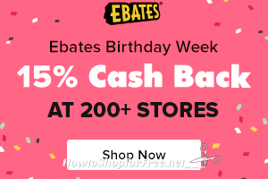 WOW, Ebates is Giving 15% Cash Back!! +$10 Sign-Up Bonus!