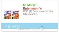 **HOT**NEW Printable Coupon** ONE (1) Entenmann's Little Bites Muffins