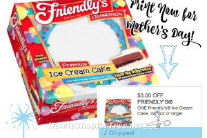 $3/1 Friendly's Ice Cream Cake ~Print Now for #MothersDay