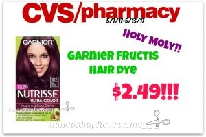 Hot Deal!!! Garnier Fructis Hair Color $2.49 at CVS(5/7/17-5/13/17)