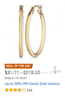 Up to 30% Off Classic Gold Jewelry ~Amazon Deal of the Day!