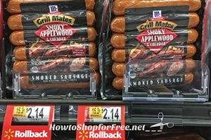 $1.39 for McCormick Grill-Mates Sausages @ Walmart!!