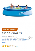 Save Big on Intex Easy Set Pool Sets ~Amazon Deal of the Day