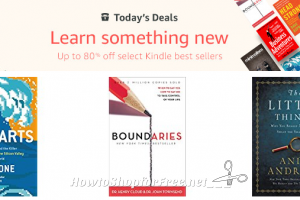 Learn something new, up to 80% off select Kindle best sellers!