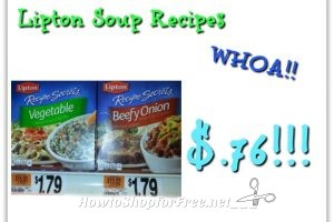 Hot Deal Lipton Soup Recipes only .76¢ at Stop & Shop(5/18/17-5/25/17)