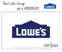 Get a $50 Lowe's GC for $45.00! ~Two Days Only!