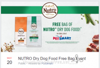 FREE bag of NUTRO™ Dry Dog Food @ PetSmart (TODAY 9am-5pm)