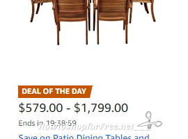 Patio Furniture Sale ~ Deal of the Day on Amazon!