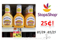 Sweet Baby Ray's Dipping Sauce only $.25 at Stop & Shop!