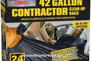 24ct/42gal. Outdoor Construction Trash Bags UNDER $9 ~ 40% OFF!