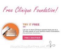 Free Clinique Foundation Sample at Ulta