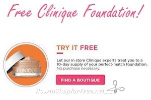 Free Clinique Foundation Sample at Ulta