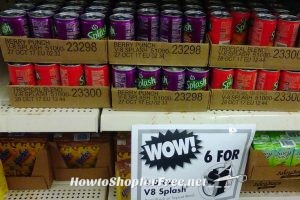 6 for $1.00 V8 Splash Drinks @ Dollar Tree!