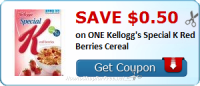 Save $0.50 on ONE Kellogg's Special K Red Berries Cereal