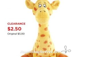 Kohl's Cares® Giraffe Plush ONLY $2.50!!