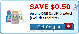 SAVE $0.50 OFF (1) all® product