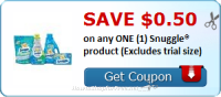 SAVE $0.50 OFF (1) Snuggle® product