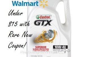 5QT Castrol GTX Motor Oil for $14.47 @ Walmart